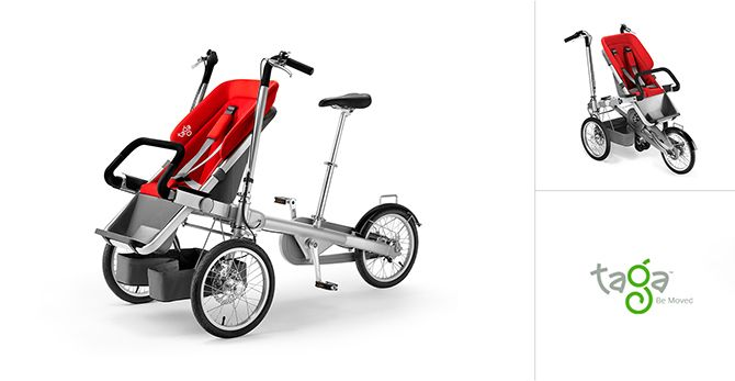 The Taga Bike combines your bike with your baby's stroller. | Baby ...