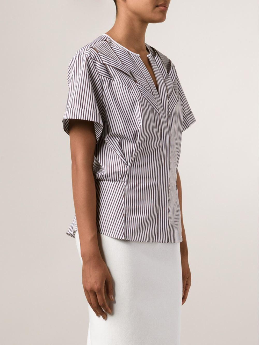3e87a8b577f8c Nina Ricci camisa a rayas