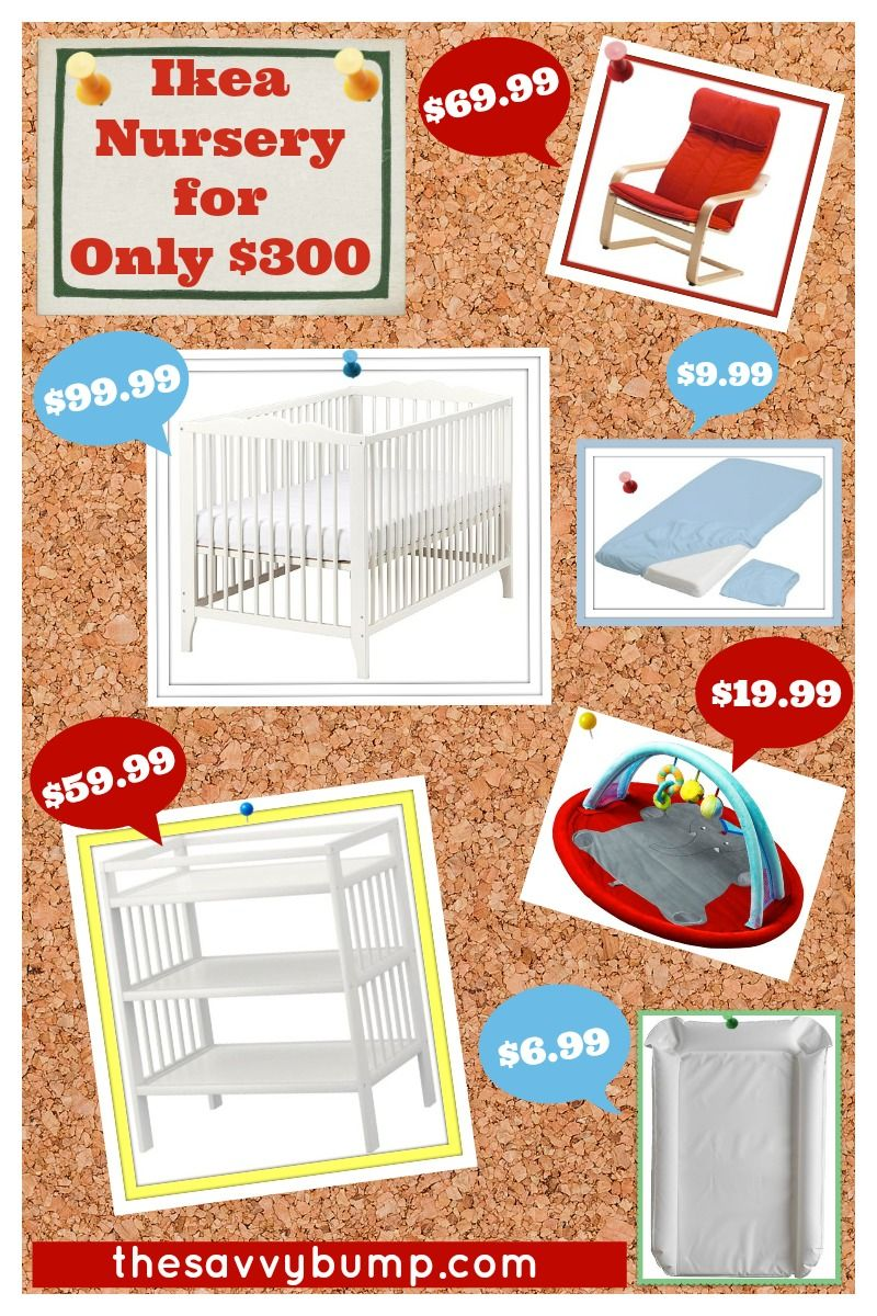 Budget Nursery from Ikea: $300 for Everything!