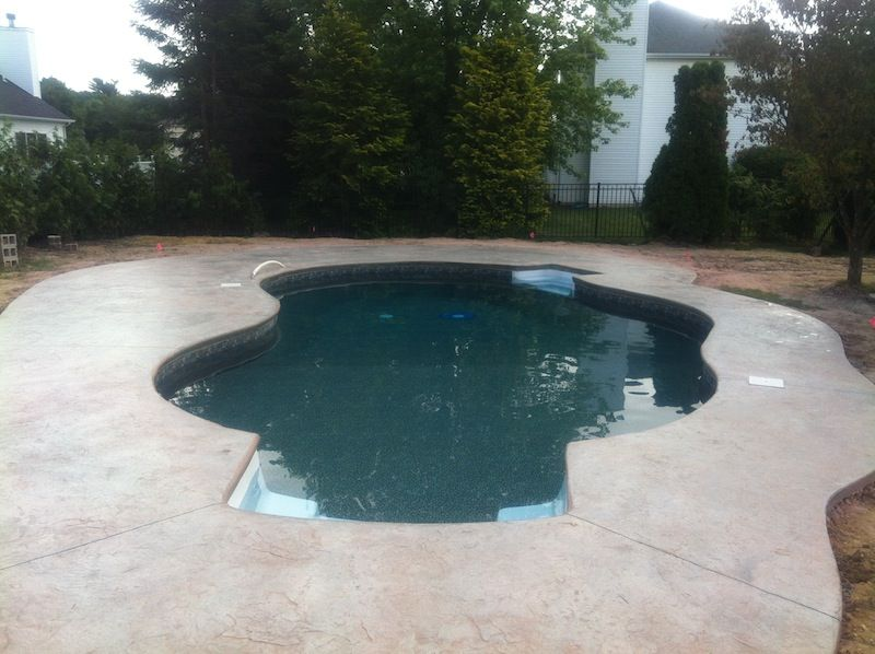 Stamped Concrete Around Pool New Concrete Colors For Pool Decks  Google Search  Pool  Pinterest