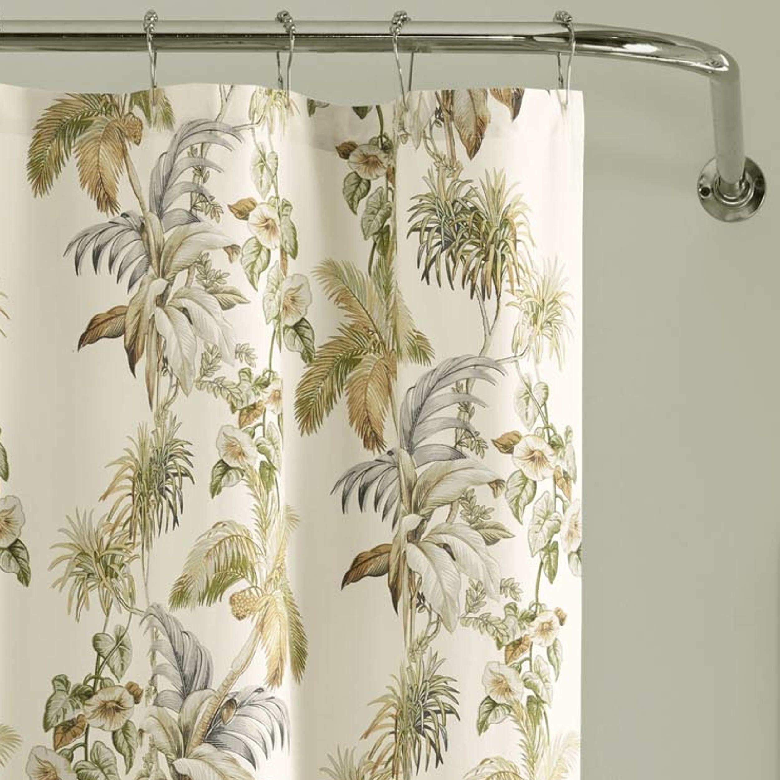 Nador Cotton Single Shower Curtain Curtains Shower Modern