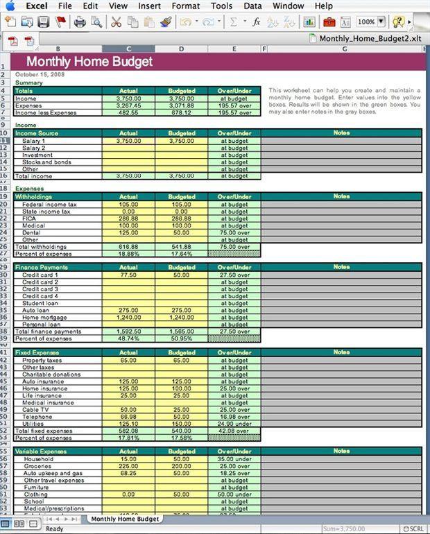 Cómo crear un presupuesto familiar en Excel | edwar | Pinterest ...