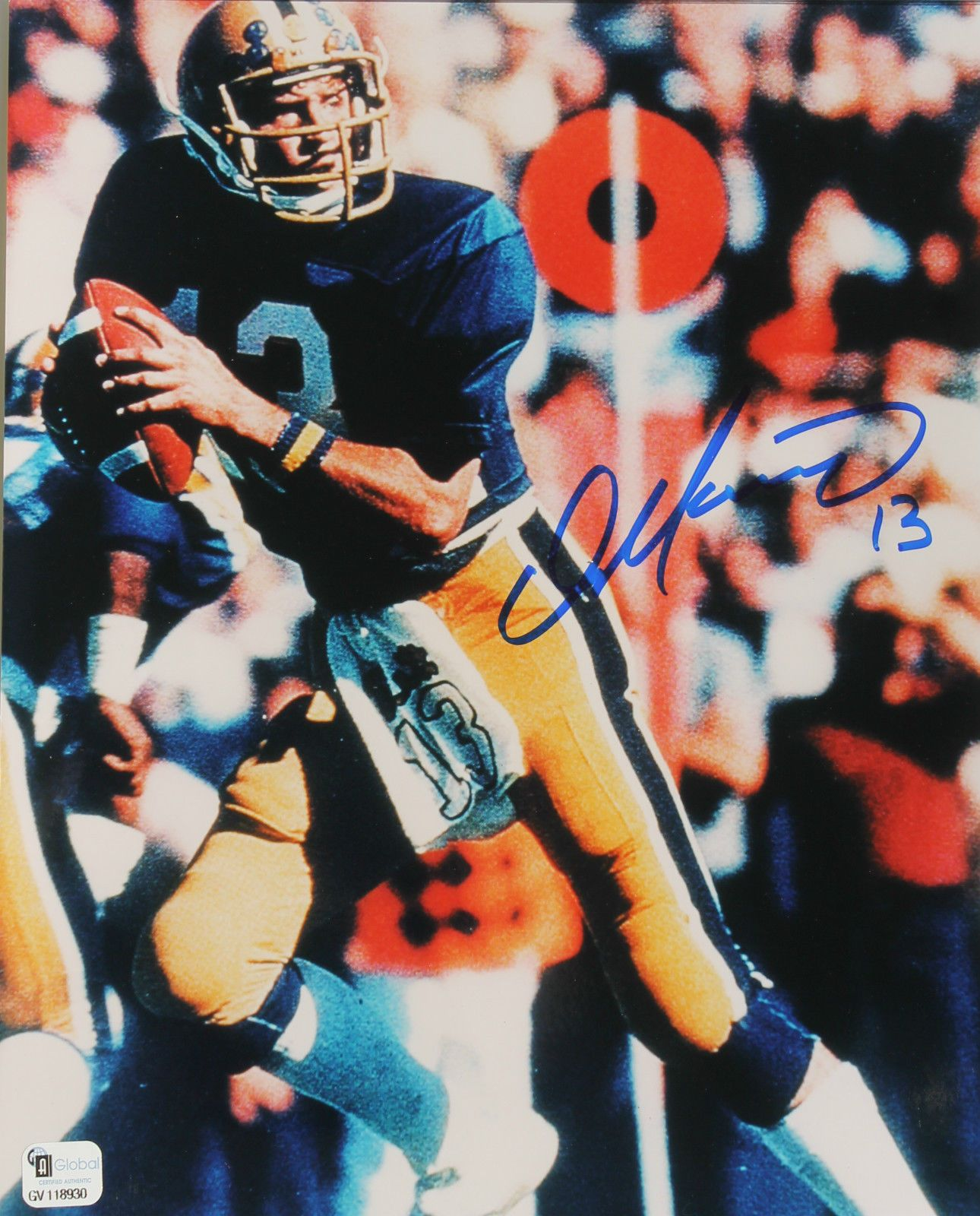 autographed dan marino pitt panthers football 8x10 miami