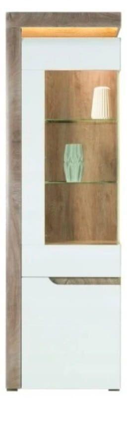 Left hand IRMA cabinet IM6 Gloss / LED Oak