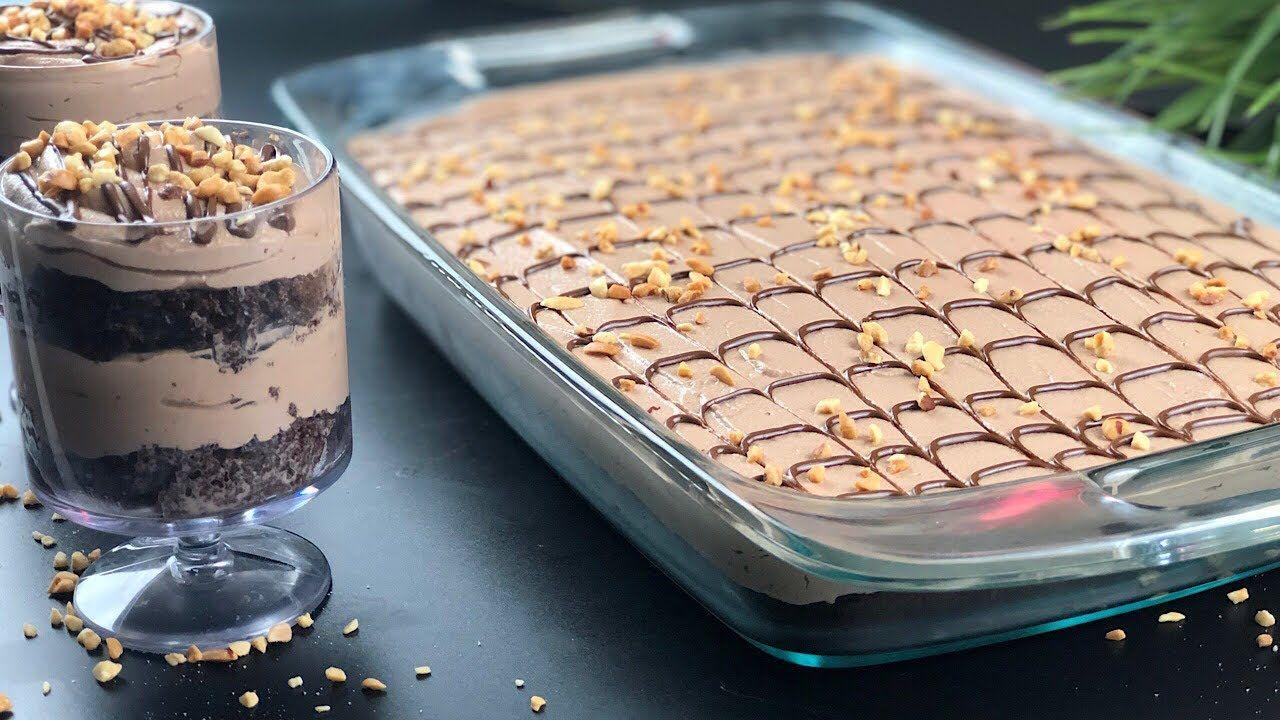 ديسباسيتو كيك او حلى النوتيلا حلى بارد Nutella Cake Cold Dessert Cake Cookies Desserts Bakery