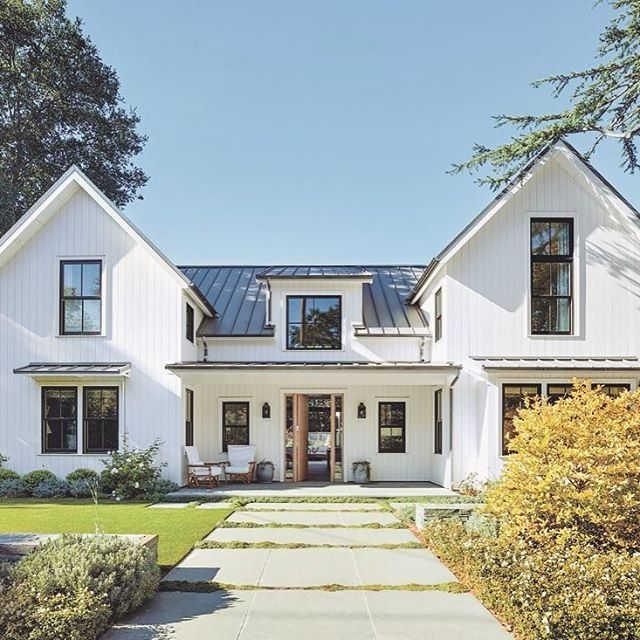 House · traditional meets modern in this contemporary farmhouse with an open floor plan
