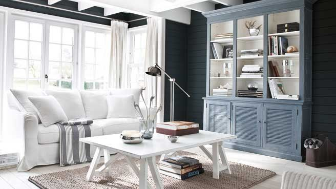 une d co de style bord de mer dans le salon photos d co. Black Bedroom Furniture Sets. Home Design Ideas