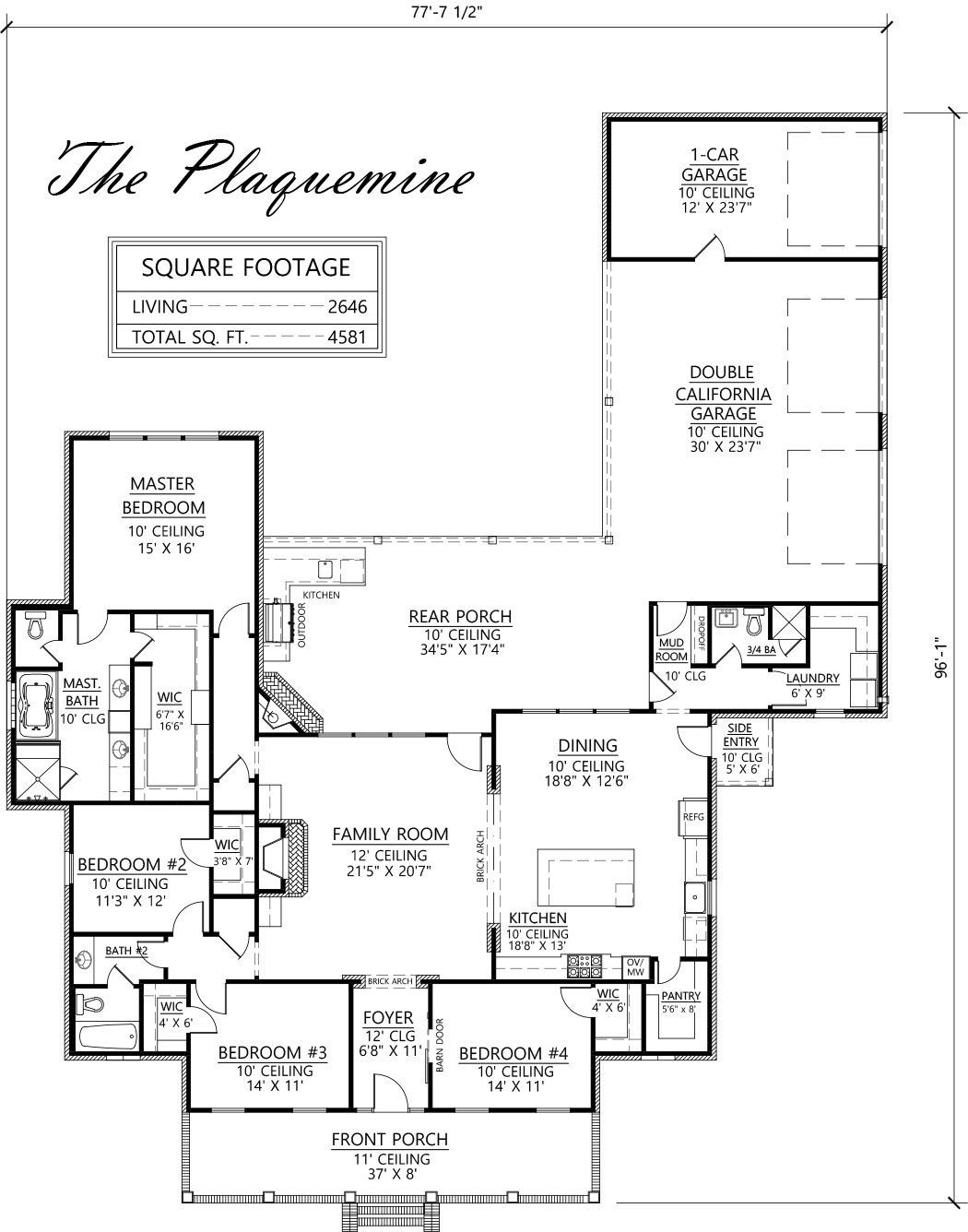 Acadian Style House Plan The Plaquemine Madden Home Design