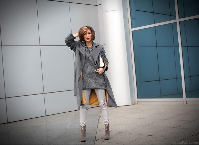 Шикарное сочетание цветов пальто, свитера и подкладки