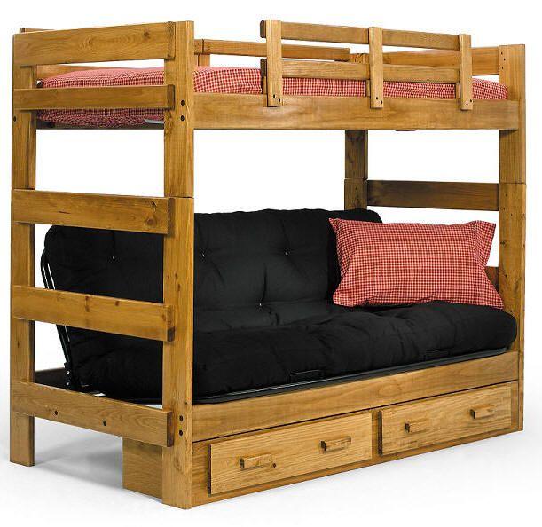 Wood Bunk Beds Futon