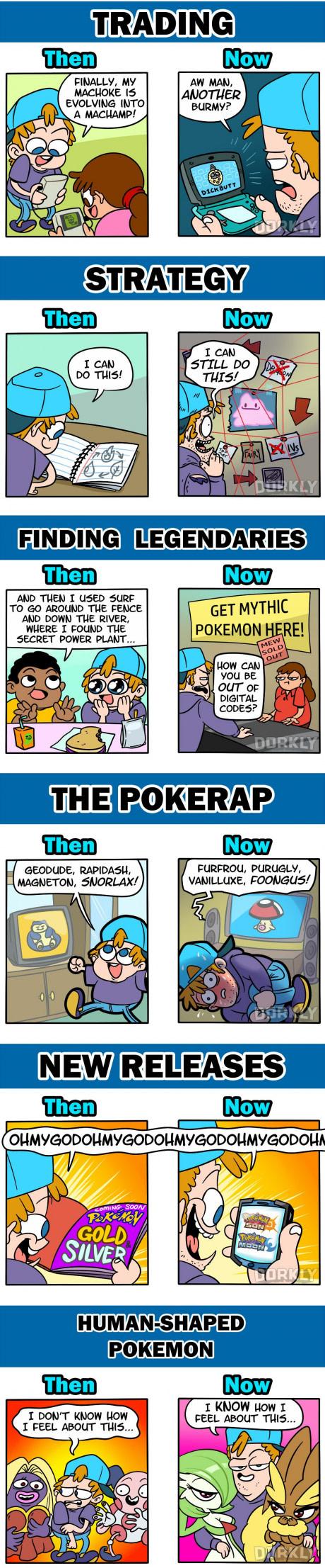 Pokemon Then Vs Now Pokemon Pokemon Memes Pokemon Funny