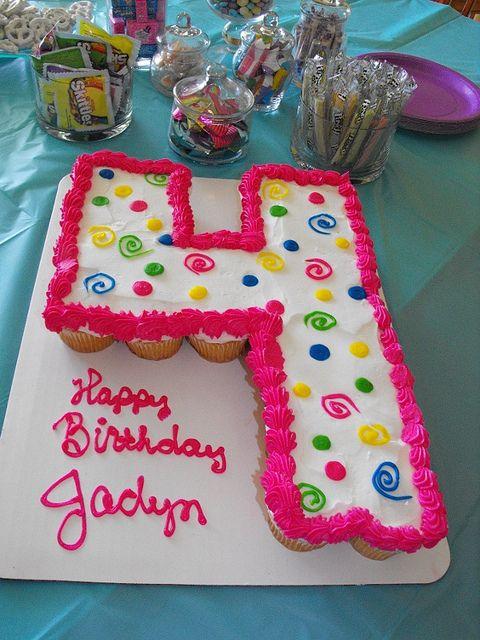 Number 4 cupcake cake Number Cake and Birthdays