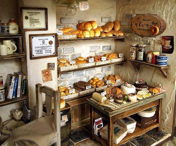 1//12 Miniature Bread Dollhouse Kitchen Food Bakery U9O7 J5D7 Table D Y8J8 P Z3Y6