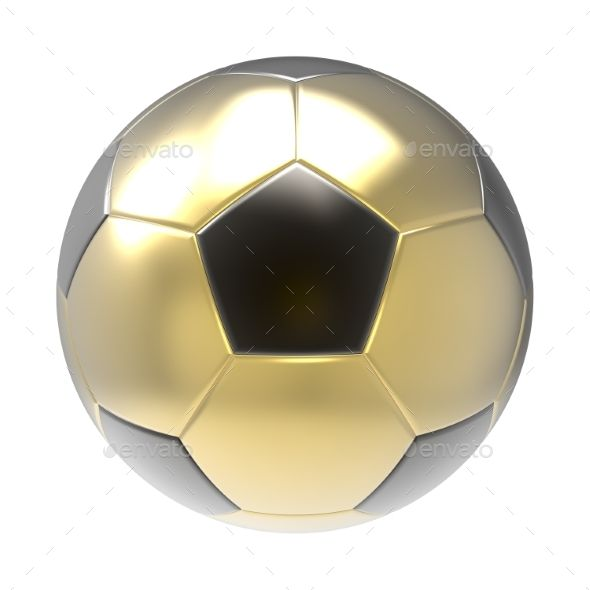 Gold Soccer Ball 3d Render Soccer Ball Soccer Graphics Design Ideas