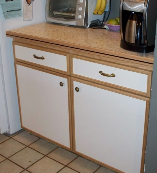 Extra deep lower cabinet gives ample storage for large ...