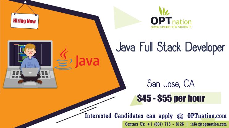 We're Hiring Java Full Stack Developer in San Jose, CA