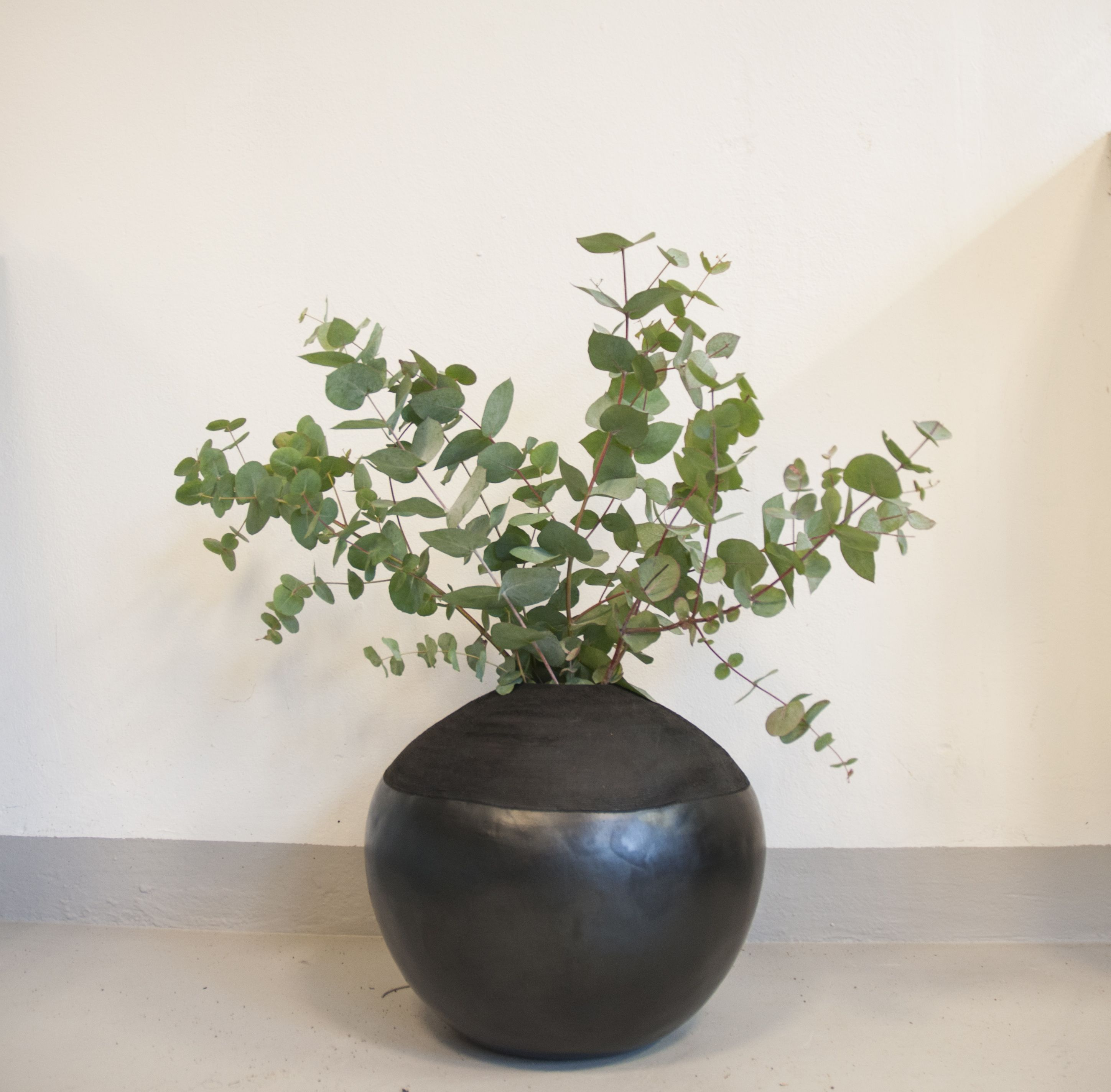 A Beautiful Chamba Vase With Eucalyptus