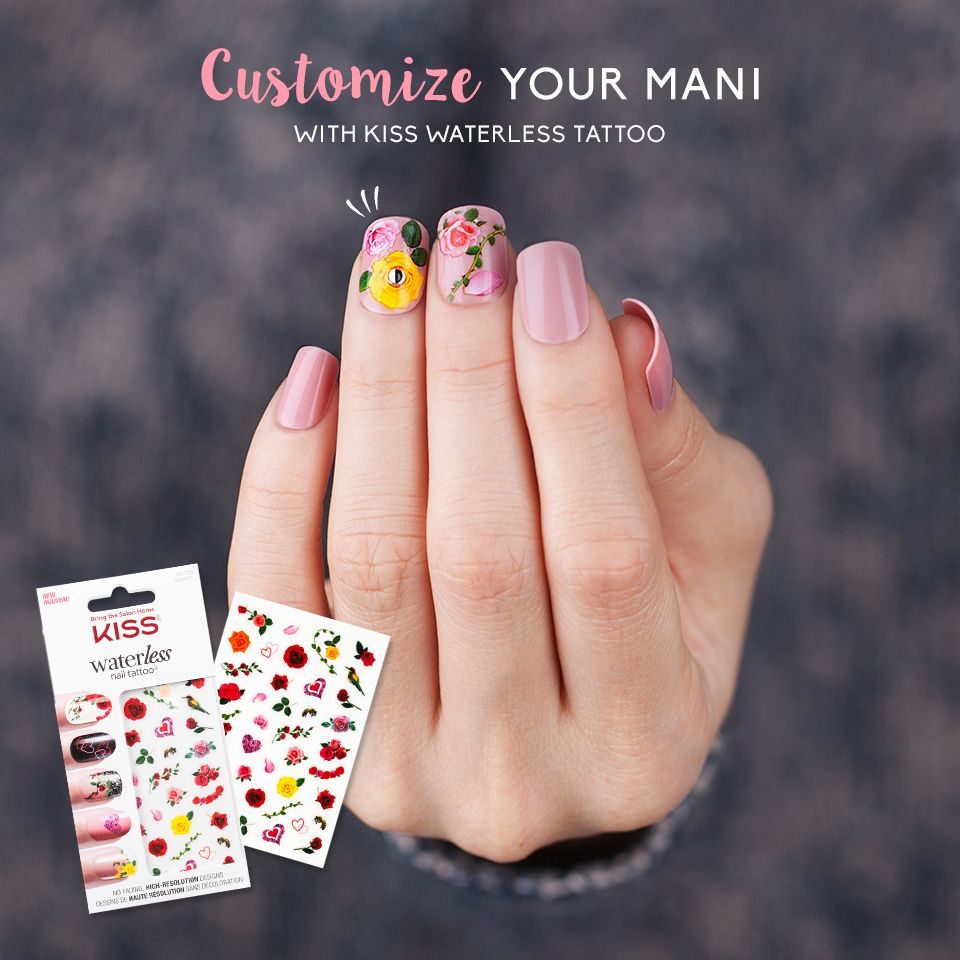 Customize Your Mani With Intricately Designed Nail Art Kiss Waterless Tattoo Diy