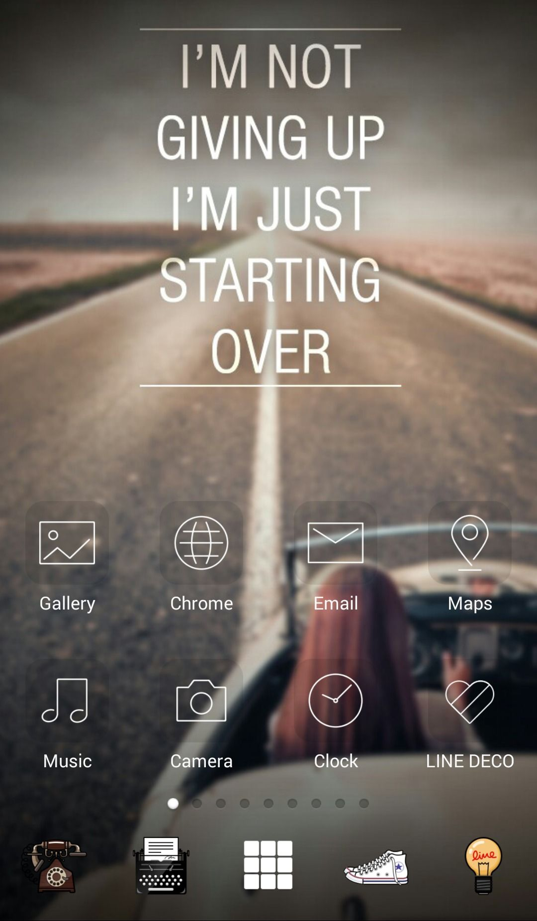 line deco add beautiful quote on your screen a˜† in this screen a˜† deco