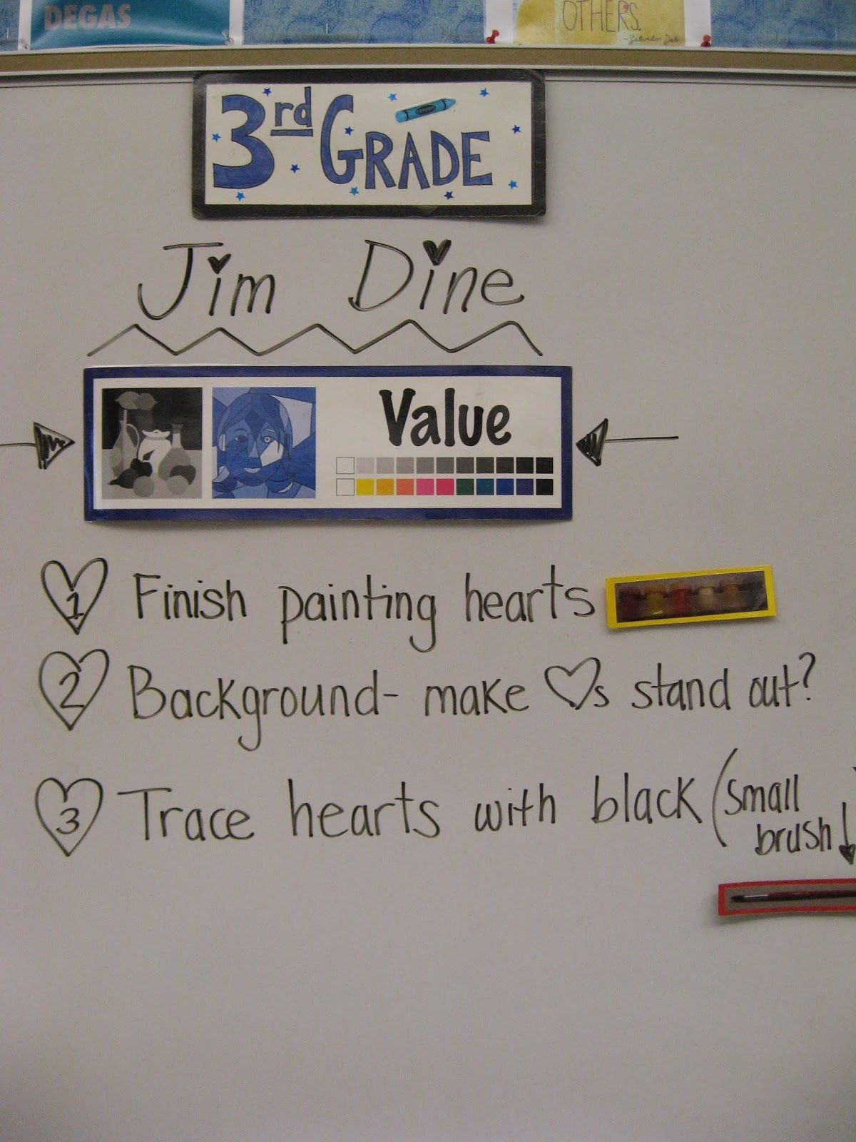 Jamestown Elementary Art Blog Reporting What 3rd Graders Learned About Jim Dine And Value