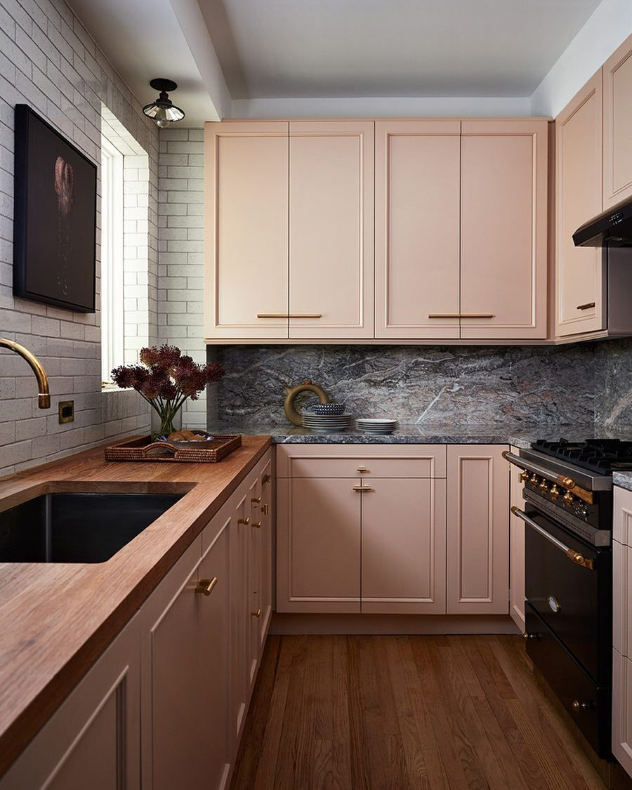 Behold, 6 SunsetInspired Ideas to Make Summer Feel Truly Endless (In a Good Way) - Kitchen design, Kitchen inspirations, Kitchen interior, Pink kitchen cabinets, Custom kitchen cabinets, Kitchen design trends - We've rounded up six sunsetinspired ideas that'll make summer feel endless in the best possible way  Cue The Beach Boys