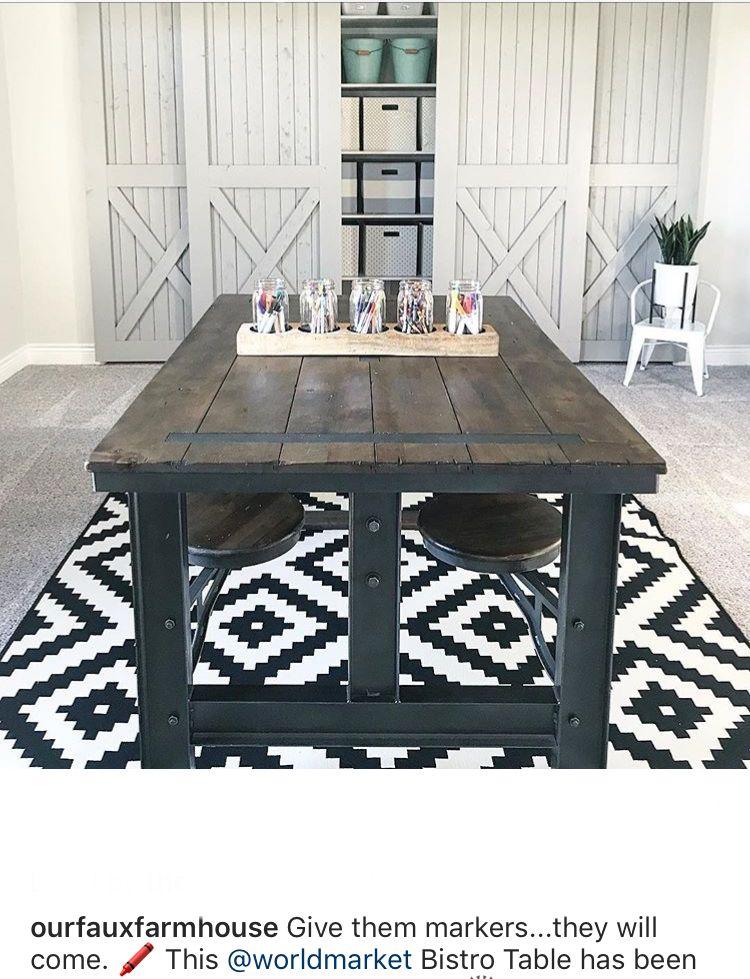 World market Bristo table. Galvin Cafeteria Table in 2019