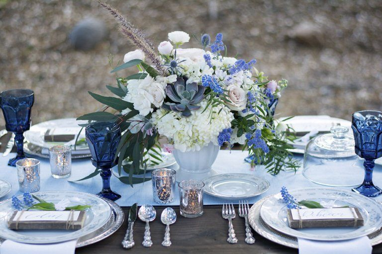 Country Blue Wedding Inspiration Rustic Wedding Chic Rustic Wedding Blue Blue Wedding Inspiration Blue Wedding Centerpieces