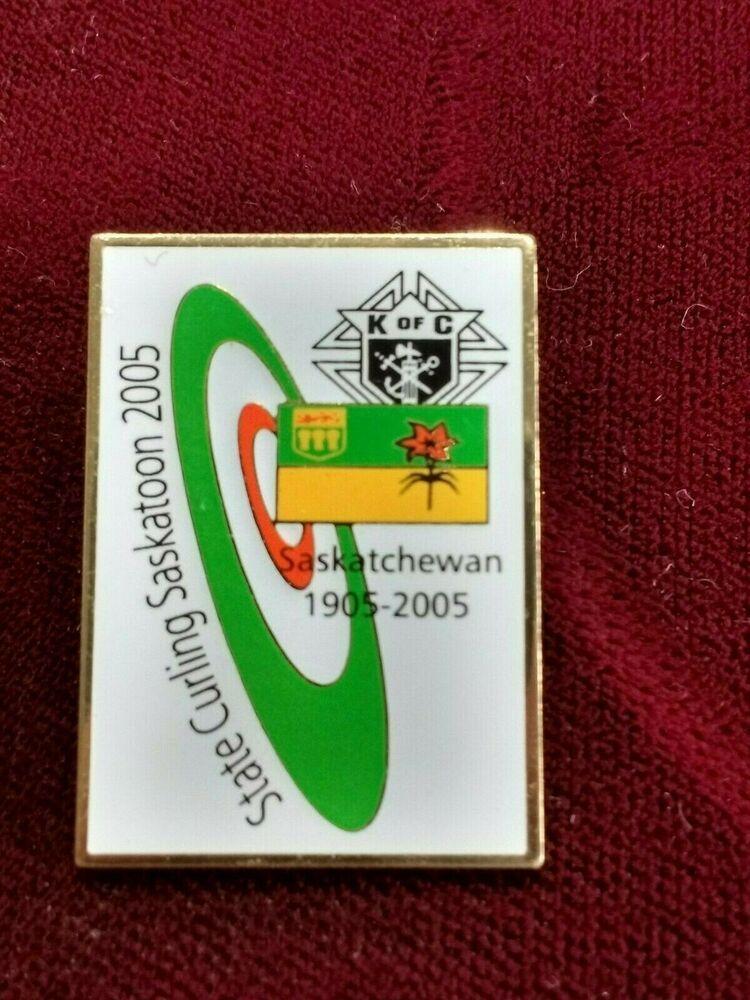 Knights Of Columbus 2005 State Bonspiel Saskatoon Curling Pin Ebay In 2020 Knights Of Columbus Saskatoon Squamish