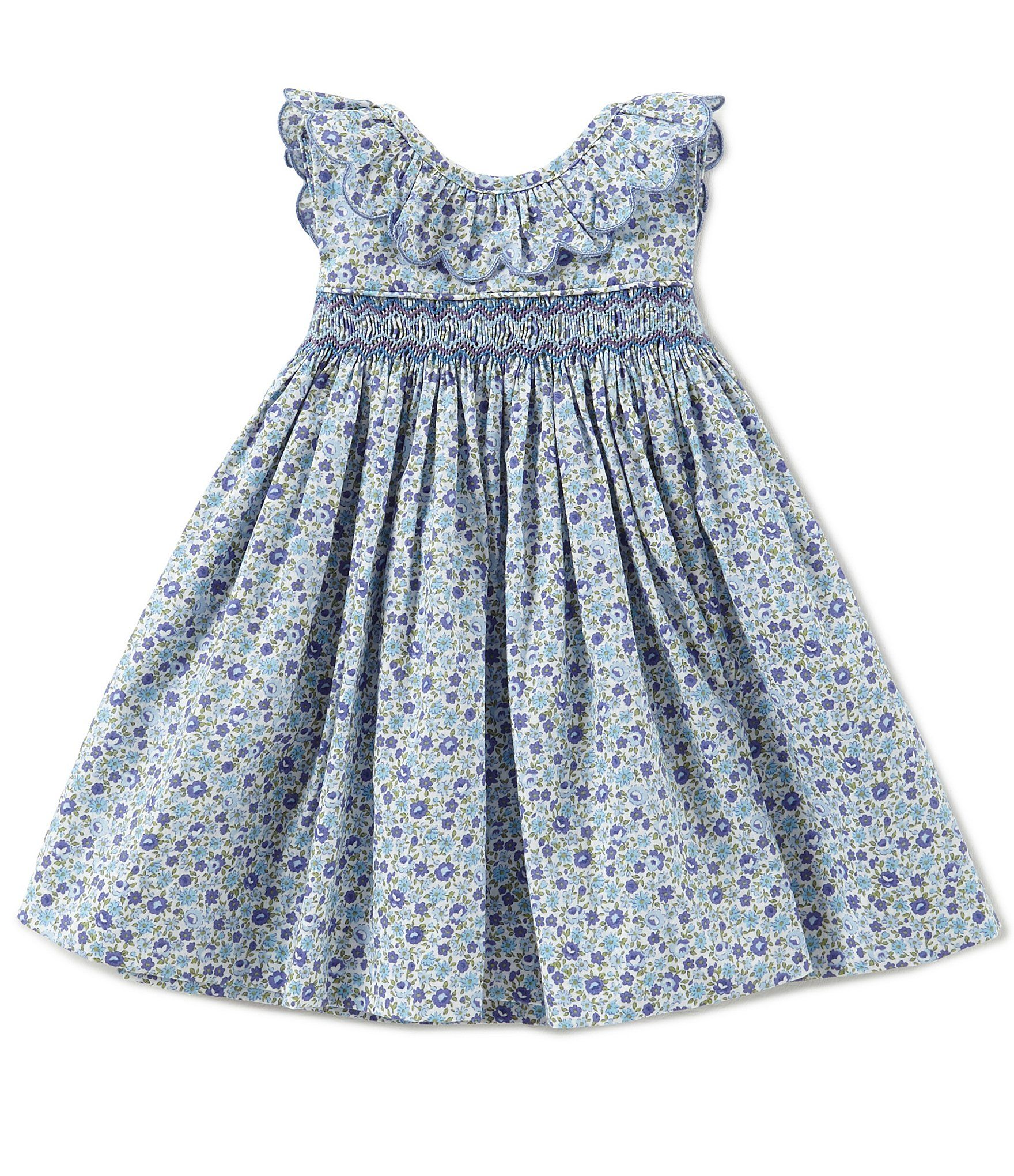 a3baaa94126 Shop for Edgehill Collection Baby Girls 3-24 Months Floral Printed Smocked  Ruffle Collar Dress at Dillards.com. Visit Dillards.com to find clothing