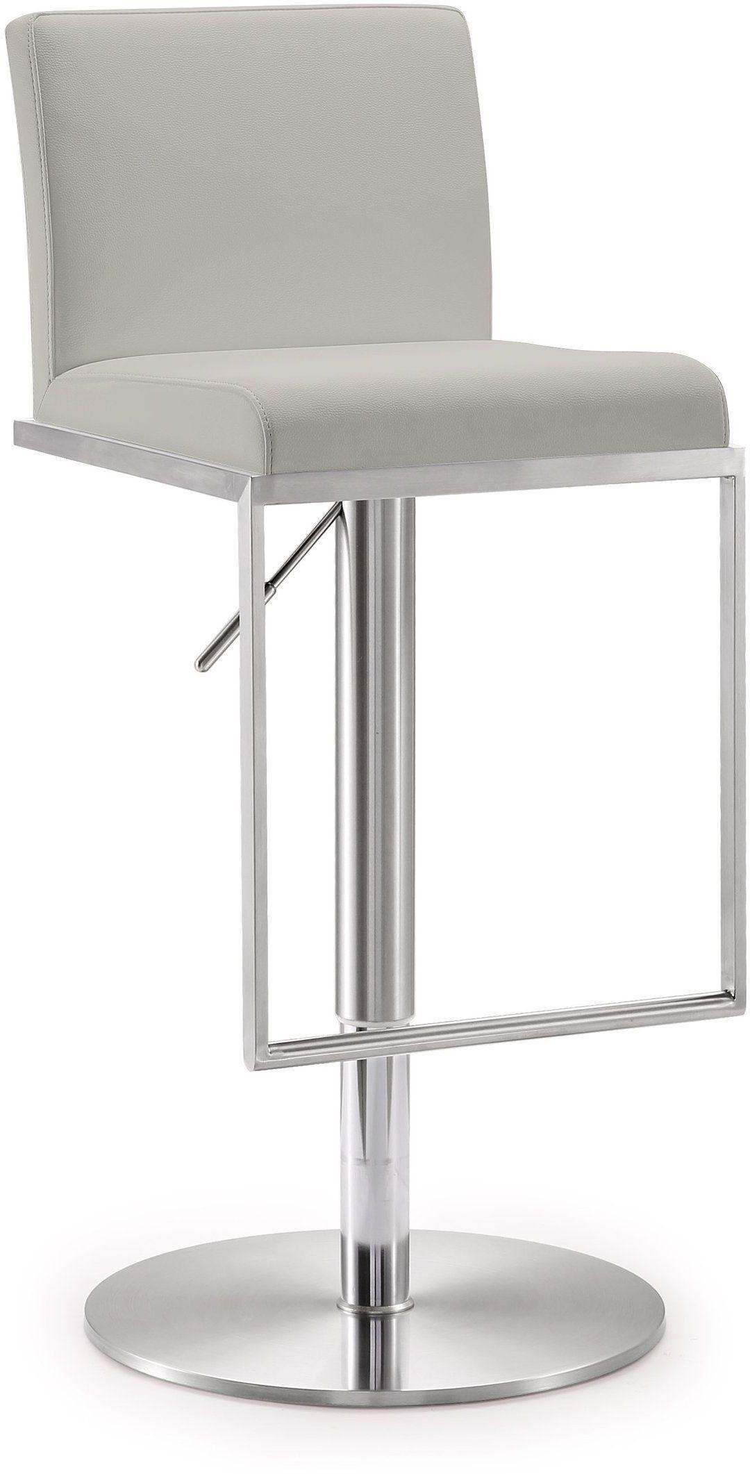 Amalfi Light Grey Steel Adjustable Bar Stool Adjustable Bar Stools Bar Stools Adjustable Stool