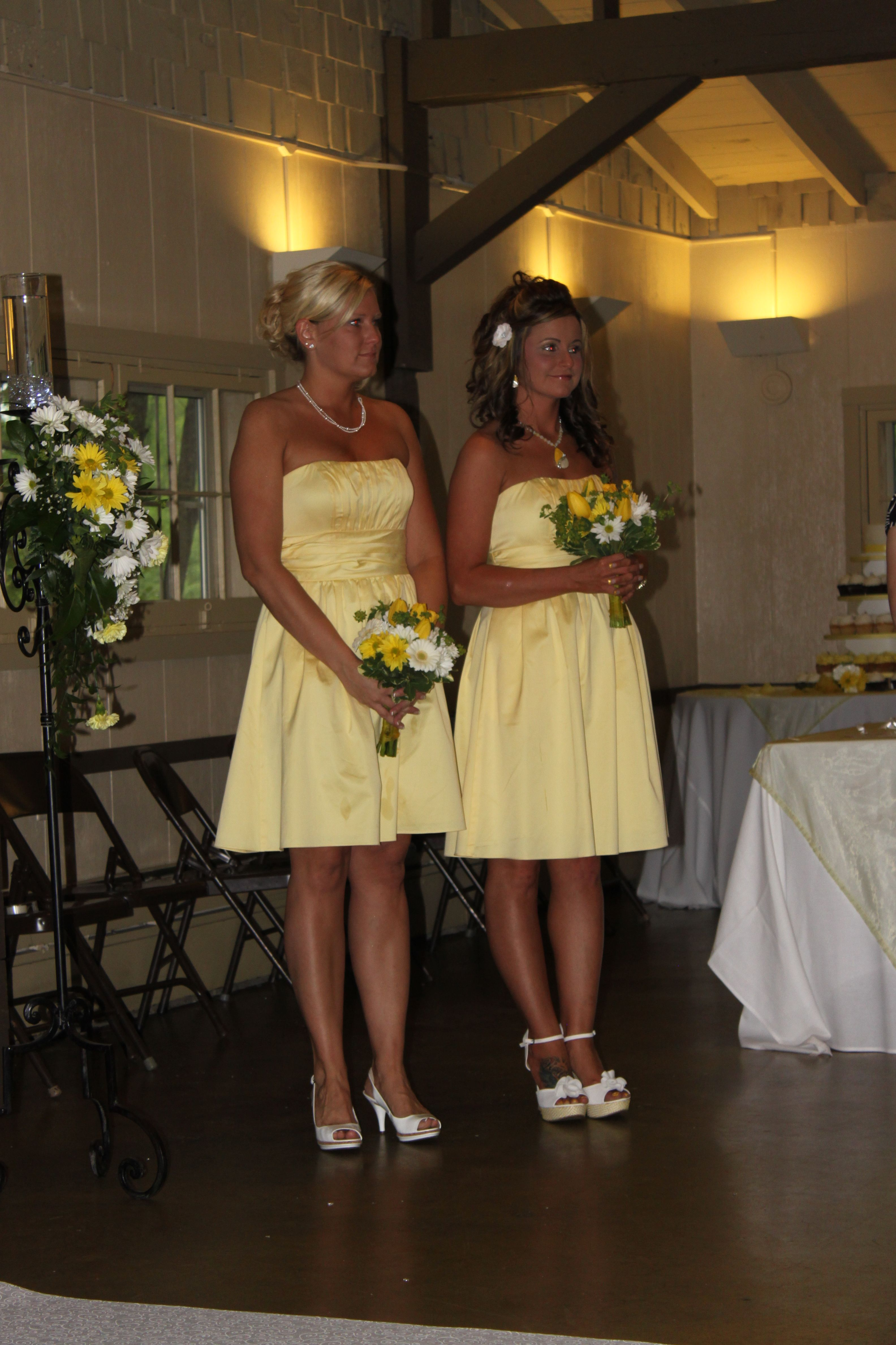 Davids Canary Dress Yellow Bridal