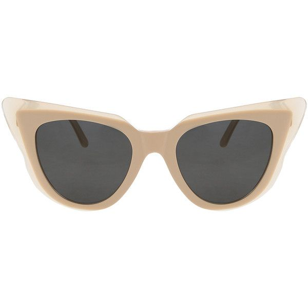 77f1d7743ee3 ILLESTEVA Emma Cateye Sunglasses ($275) ❤ liked on Polyvore featuring  accessories, eyewear, sunglasses, glasses, tinted glasses, lens glasses, ...