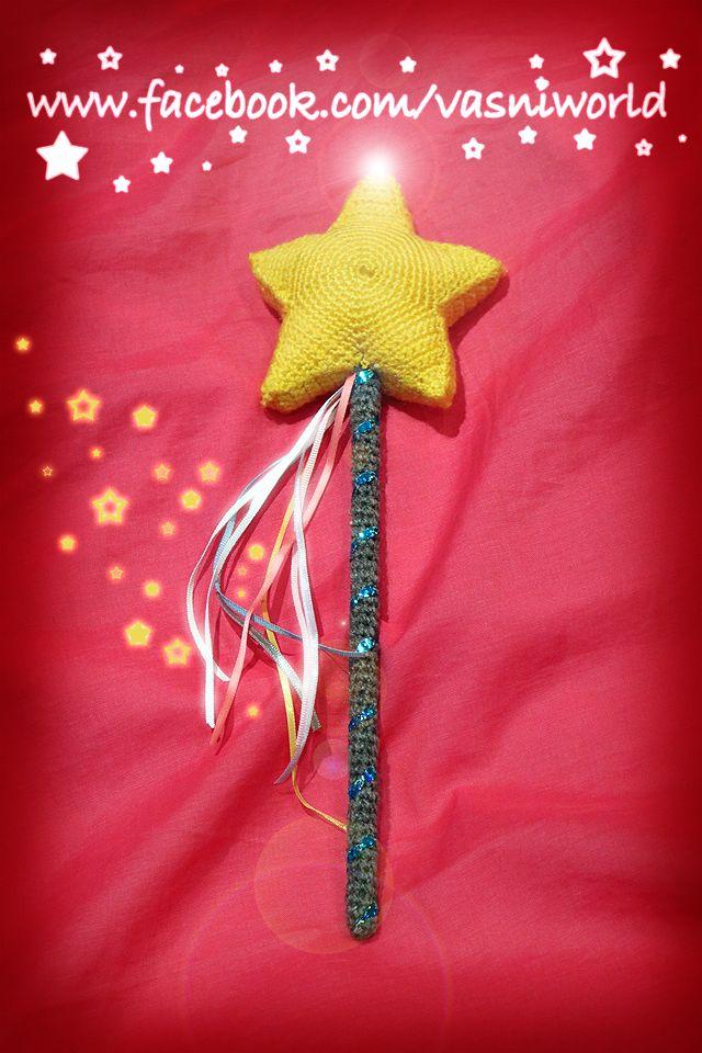 Varita mágica de lana.  www.facebook.com/vasniworld