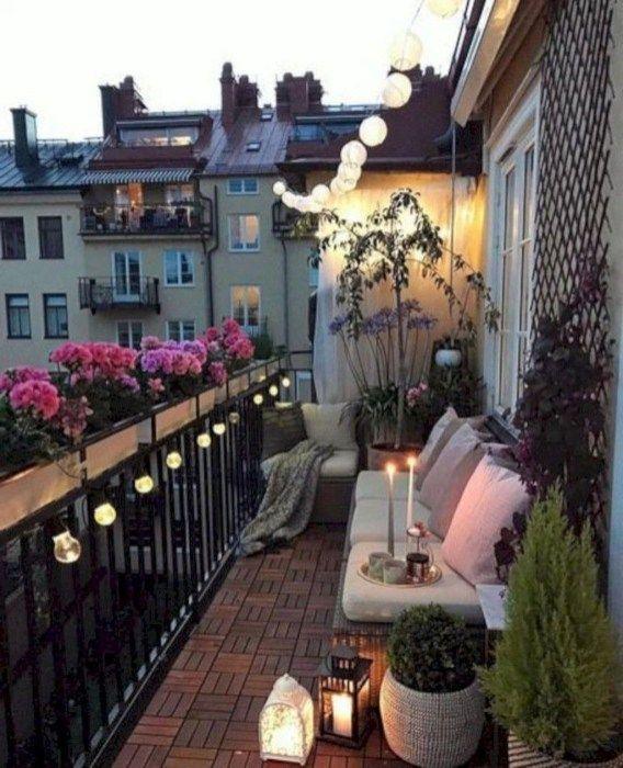 35 Cute Summer Balcony Decor Ideas For Apartment | Terrace ...