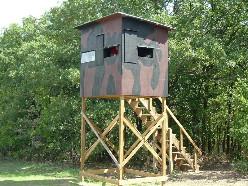 Tower tree stands for hunting thread homemade treestand for Building deer blind windows