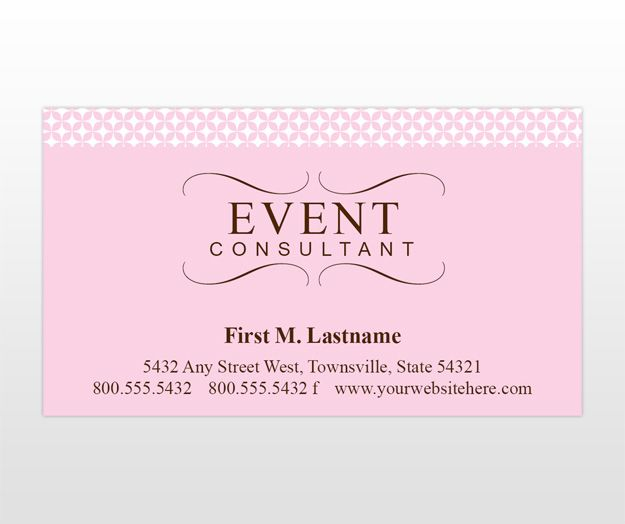 business cards Event Decorations Pinterest – Event Card Template