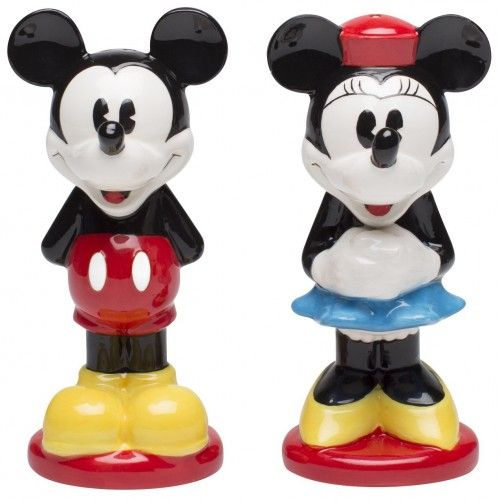 #Disney #Mickey and #Minnie Ceramic Salt and Pepper Shakers