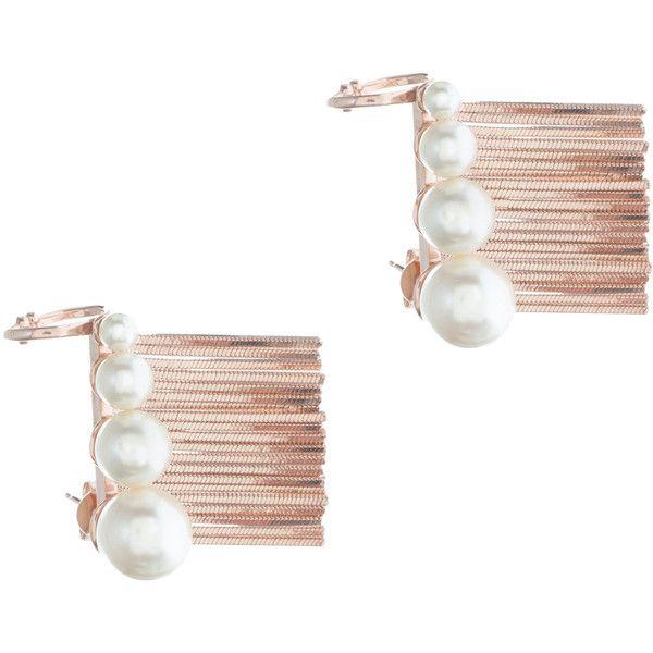 CA & LOU Ines Lobo Earrings ($108) ❤ liked on Polyvore