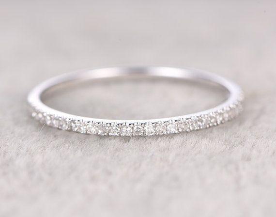 Dnne Design Diamant Ehering solide 14K Weissgold von popRing  Weddingring in 2019  Hochzeit