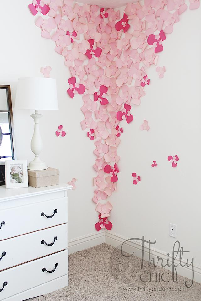 3D Flower Wall Art For The Nursery | Nursery, 3d and Flower