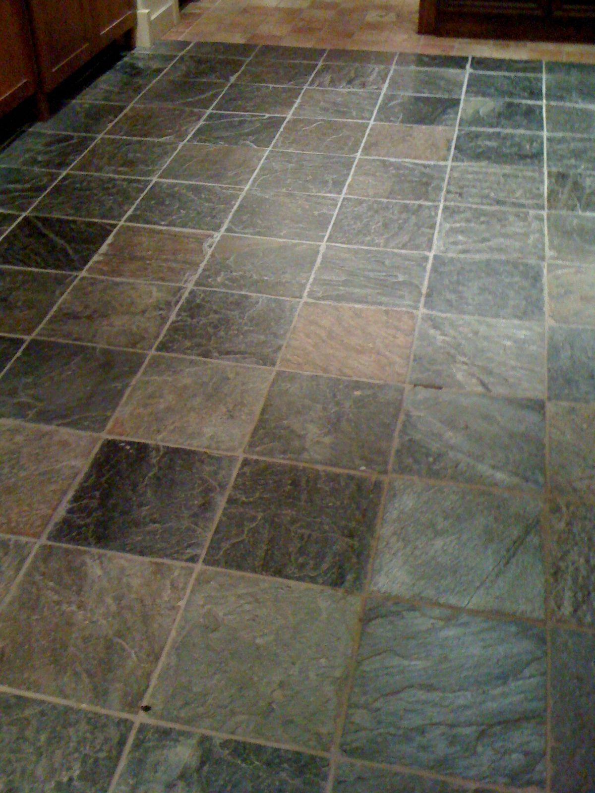 Slate tiles in bathroom - Bathroom Flooring Slate Tile