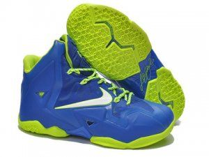 0d2c214f1f6f2 Nike LeBron 11 Sprite Royal Blue Volt Shoes are cheap sale on our website.  The lebron 11 sprite shoes will be your best choice.