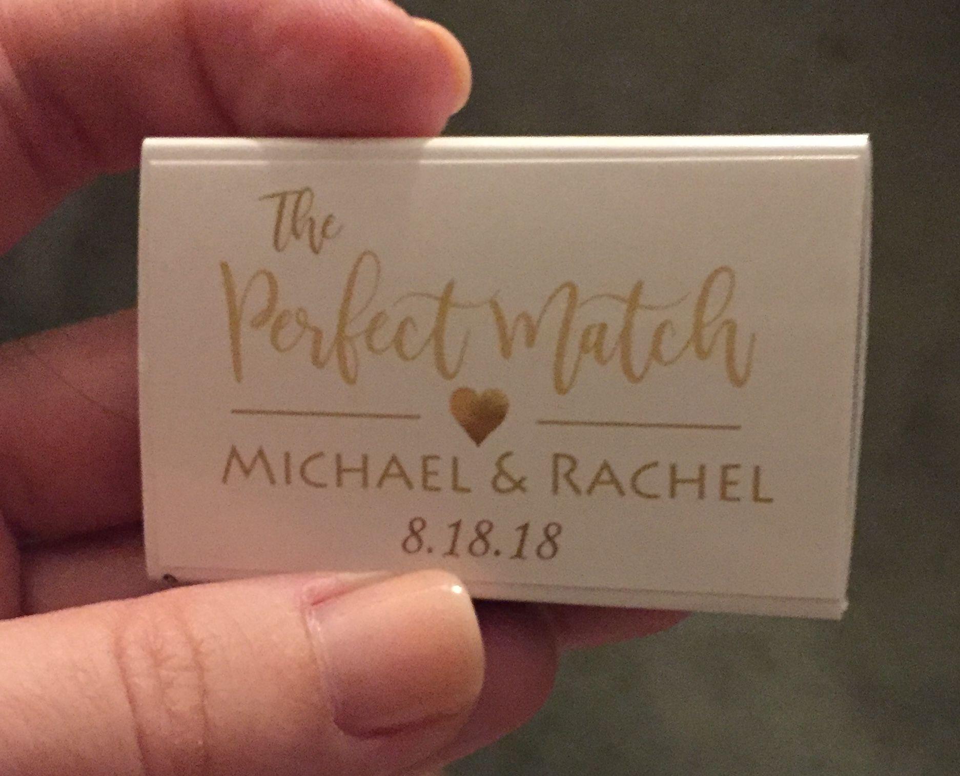 Cheap Personalized Matches Wedding Favors (Set of 25) - FREE Assembly #personalizedweddingfavors