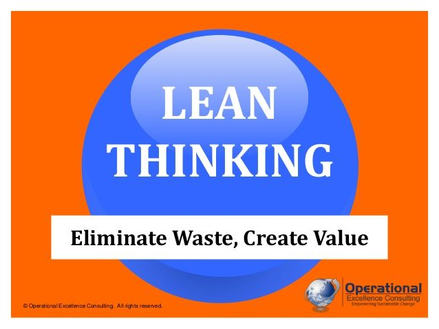 Lean Thinking Operational Excellence Lean Office Lean