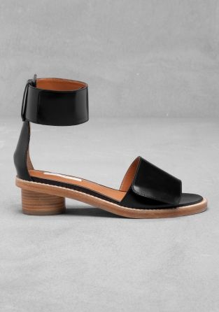 & OTHER STORIES Heel Strap Leather Sandals