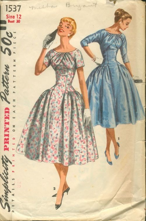 Simplicity 1537 Vintage Dress Patterns Vintage Clothes Patterns Vintage Outfits