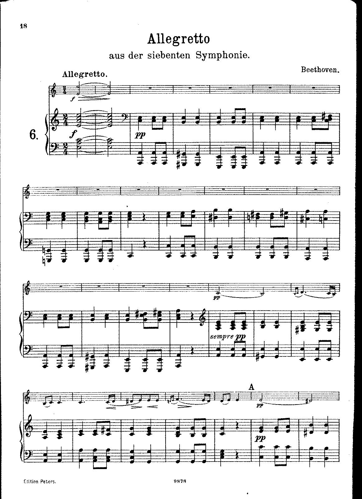 Symphony No 7, Op 92 (Beethoven, Ludwig van) - IMSLP/Petrucci Music