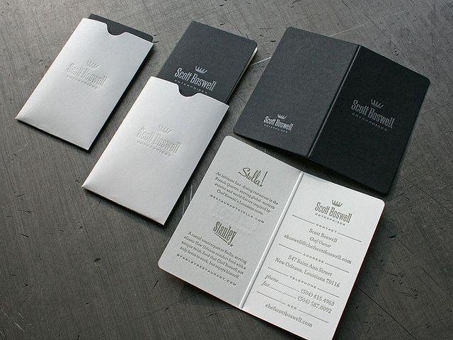 Scott boswell enterprises business card letterhead design its a mini menu business card for a chef reheart Images