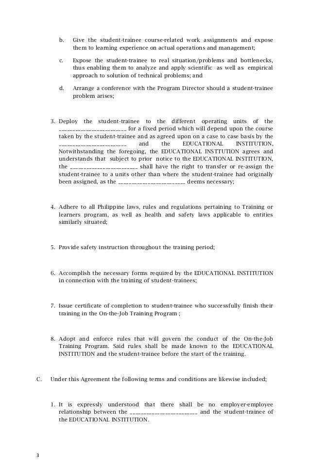 Memorandum Of Agreement Sample In 2020 Business Letter Example