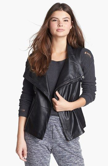 BRAND & LABEL COLLECTION Perforated Faux Leather Vest (Juniors) available at #Nordstrom